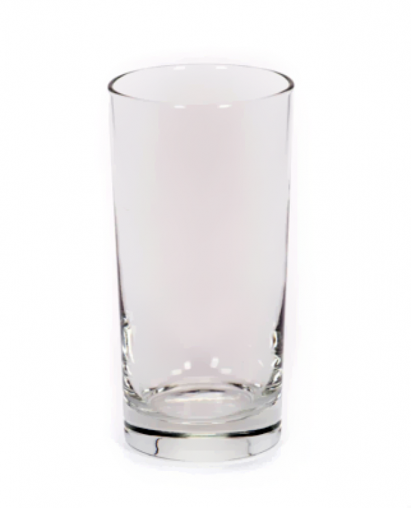Image of 12 ounce highball glass available through FLEXX Productions' glassware rentals.