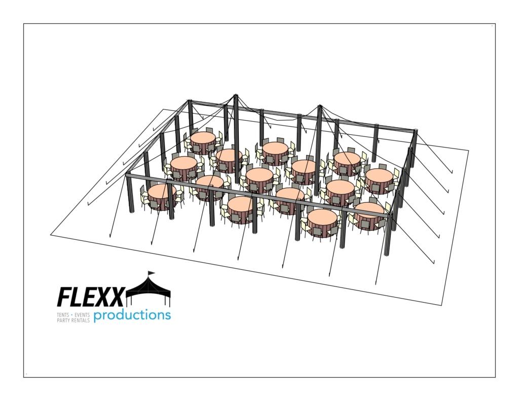 30×45 5′ Round – 3D