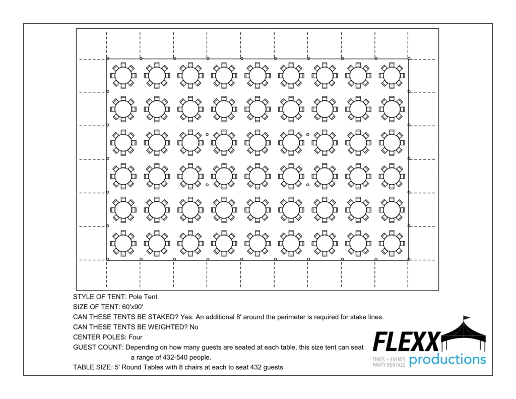 60×90 5′ Rounds – Aerial
