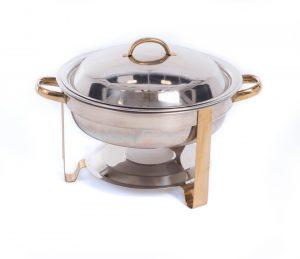SS/Brass Round Chaffer 4QT