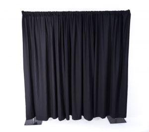 Black Pipe & Drape 8' and 16' (Per FT)