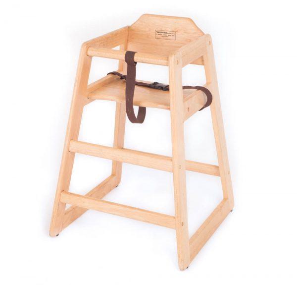 Natural Wood High Chair
