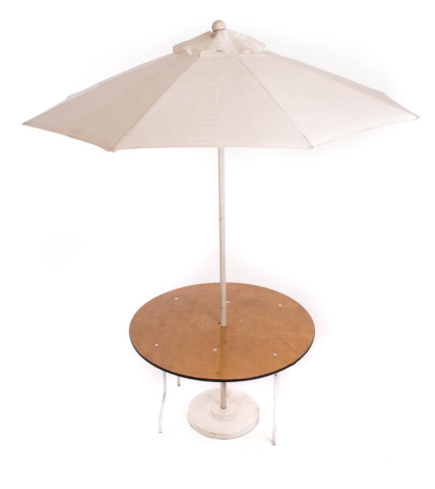 4' Round Umbrella Table (7.5' umbrella)