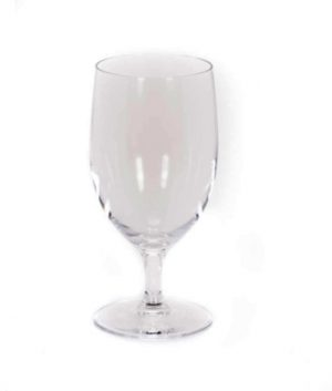 Image of 12.5 ounce clear water goblet glassware rental from FLEXX Productions.