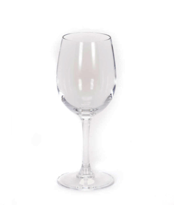 Image of white wine glass from FLEXX Productions' glassware rentals.