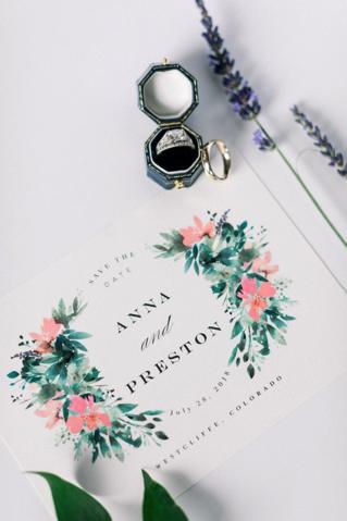 Anna and Preston's wedding invitation