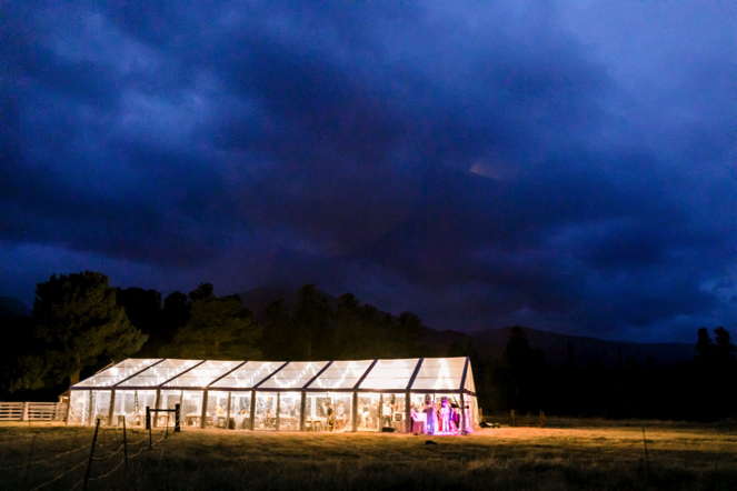 Clear tent for a wedding