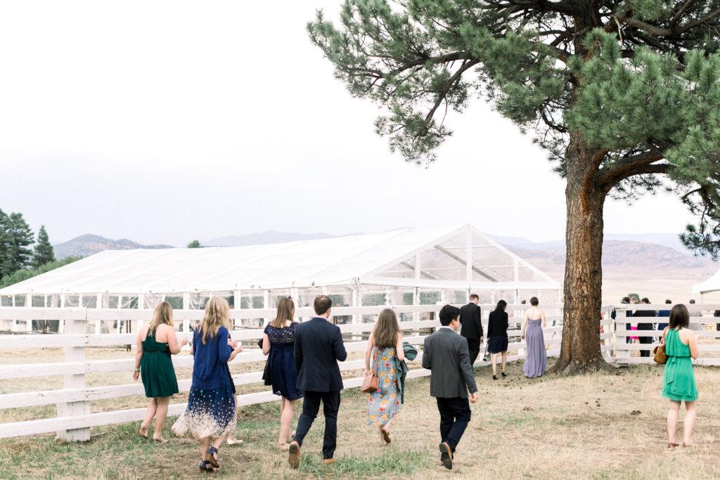 Anna and Preston's outdoor wedding