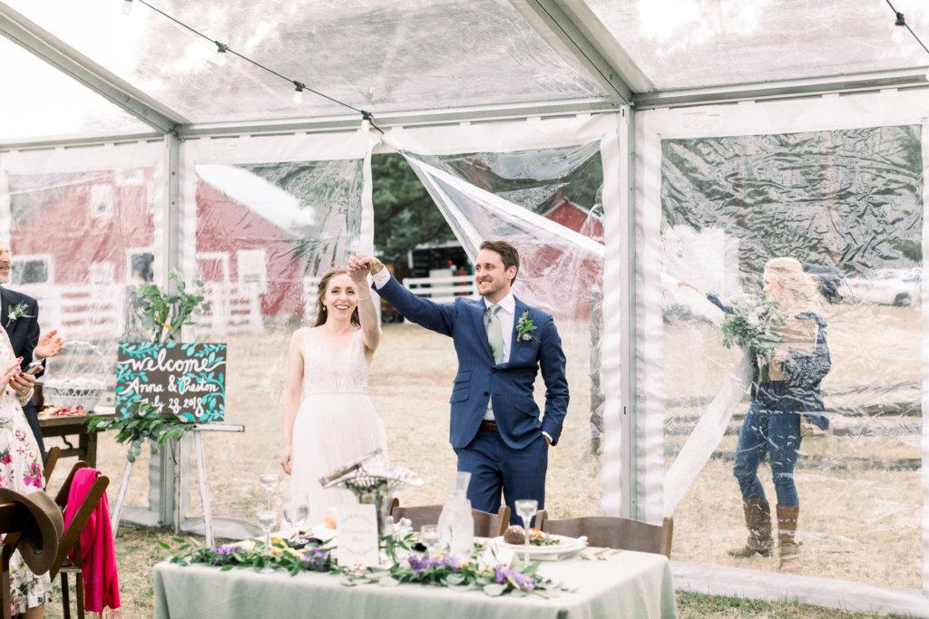 Anna and Preston's tent wedding