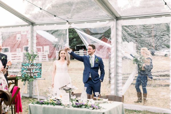 Anna and Preston's tent wedding