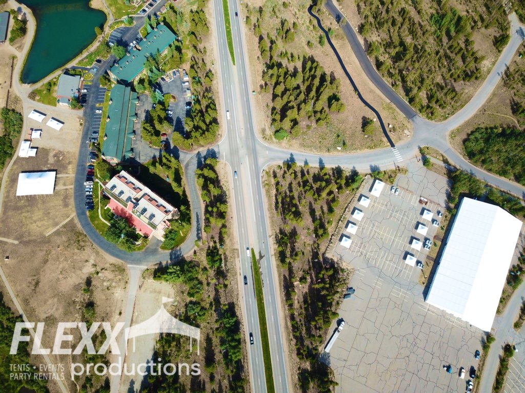 Arial view of corporate mountain events by FLEXX Productions