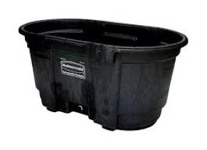 2-Keg Black Plastic Trough